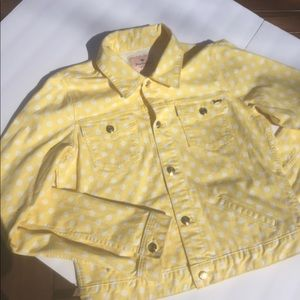 JUICY COUTURE WOMENS YELLOW POLKA DOT JACKET
